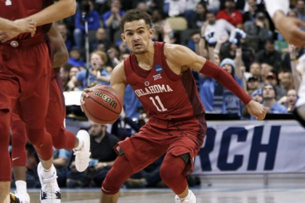 Trae Young is turning some heads by saying he might win against Stephen Curry and Klay Thompson in a three-point shootout. Will he be the next greatest shooter in the league? Photo: Keith Srakocic/Associated Press