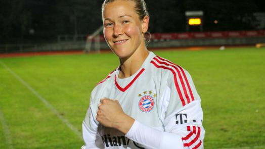 It has been all smiles for Korpela since she arrived in Germany. | Image credit: Bayern Munich
