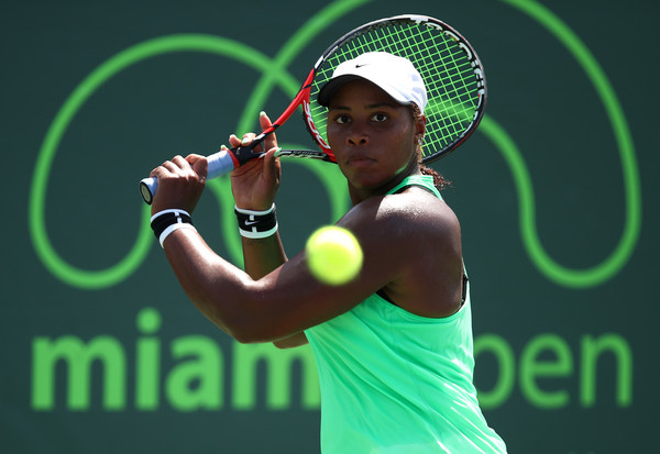 Taylor Townsend in action   Photo: Julian Finney/Getty Images North America