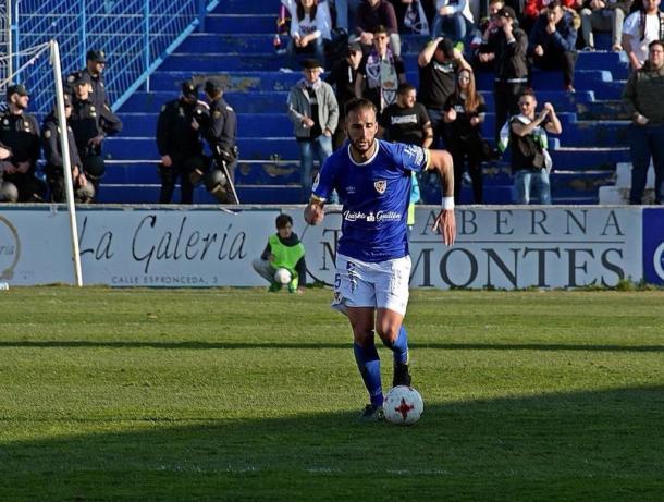 Josema en una acción durante el partido ante el Real Jaén| Foto: Fuente Luiska Garcia