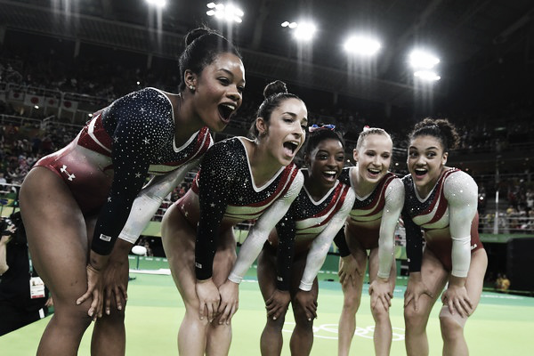  Team USA minutes after finding out they would win Team Finals gold. Photo Credit: AFPTeam USA minutes after finding out they would win Team Finals gold. Photo Credit: AFP Ben Stansall Click and drag to move 