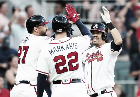 Veteran players like Matt Kemp, Nick Markakis, and Kurt Suzuki will be relied upon to carry the offensive and leadership burdens. (Photo courtesy of Scott Cunningham / Stringer via Getty Images)
