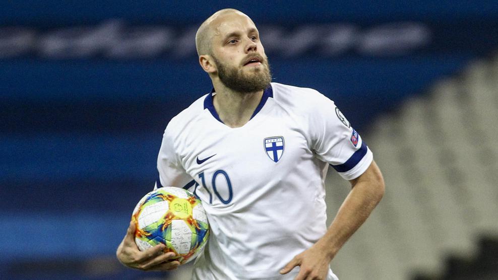 Teemu Pukki, la estrella finlandesa / Foto: UEFA