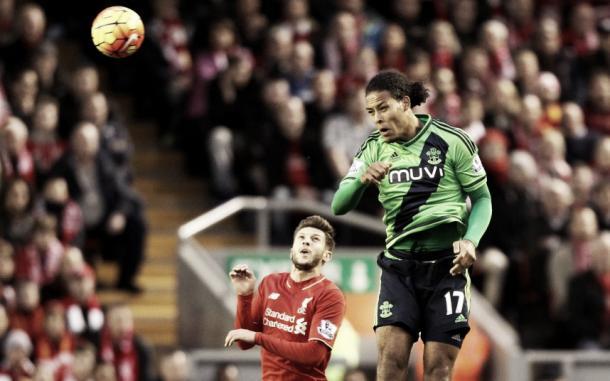 van Dijk in action at Anfield. Source - Telegraph