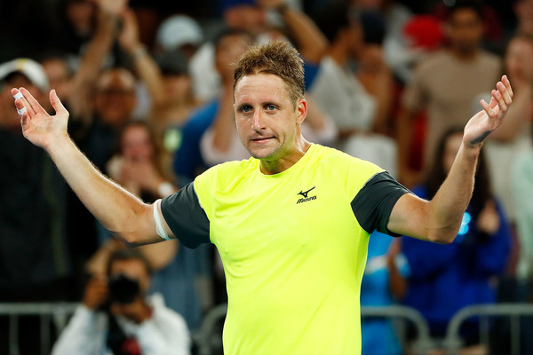 Tennys Sandgren celebrates his shock win over Dominic Thiem at the Australian Open | Photo: Michael Dodge/Getty Images AsiaPac