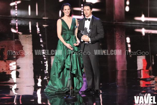 Three-time Olympic gold medallists Tessa Virtue and Scott Moir were the first to be honoured during the awards show.