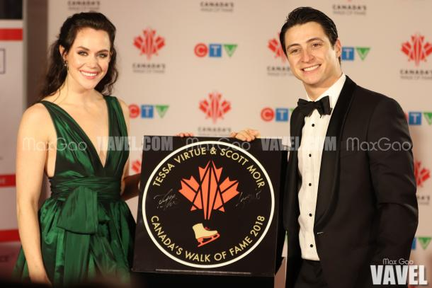 It's official! Canadian ice dancers Tessa Virtue and Scott Moir will now forever hold a physical place to mark all of their achievements on Canada's Walk of Fame.