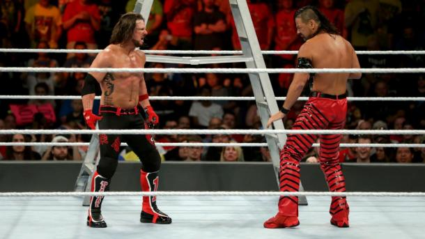 AJ Styles and Shinsuke Nakamura finally came face to face and hopefully not for the last time (image: wwe,com)