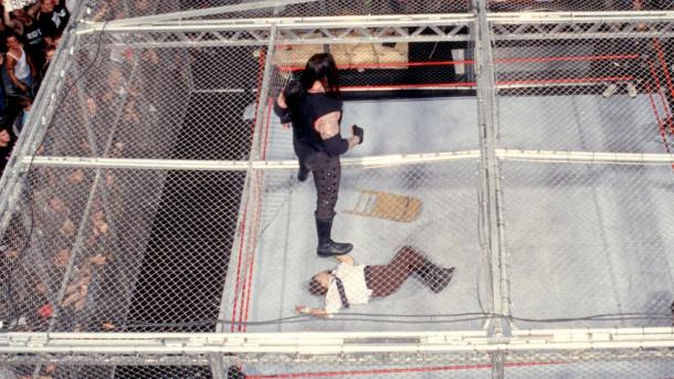 One of The Undertaker's most historic matches was against Mankind aka Mick Foley (image: wwe)