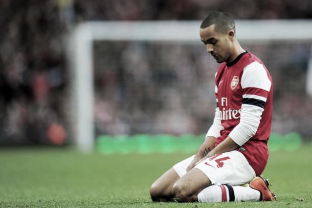 Walcott has struggled to make an impact this season. Photo- www.Mirror.co.uk