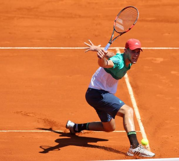 Dominic Thiem hits a backhand during his quarterfinal on Friday. Photo: Argentina Open