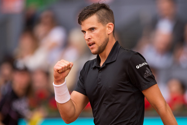 Dominic Thiem scored the biggest upset of the clay court swing, handing Rafael Nadal his lone clay court loss this year in Madrid. Photo: Denis Doyle/Getty Images