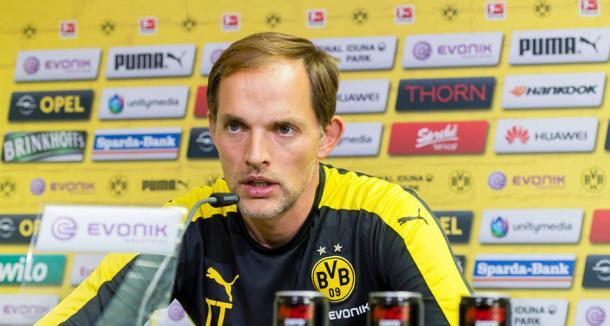 Thomas Tuchel en rueda de prensa | Foto: Borussia Dortmund
