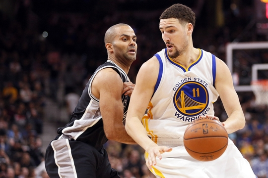 Thompson is helping Curry lead the Warriors. | Photo: USA Today Sports