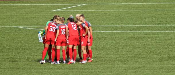 The Portland Thorns ply their final match before their homeopener next Saturday. (Photo via timbers.com)