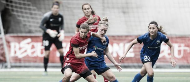 The Thorns travel to Seattle to take on the Reign in the last week of the regular season. (photo via timbers.com)