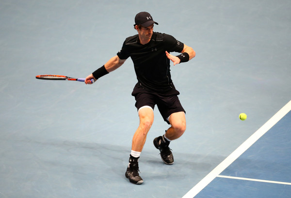 Murray at the Tie Break Tens event before the Erste Bank Open (Photo by Jordan Mansfield/Getty Images)