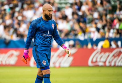 Tim Howard in action with the Colorado Rapids | Source: Shaun Clark - Getty Images