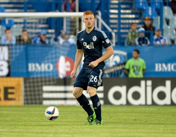 If Tim Parker, seen here during his rookie season in 2015, gets the start, expect Sporting Kansas City to go right after him | Source: Eric Bolte - USA TODAY Sports