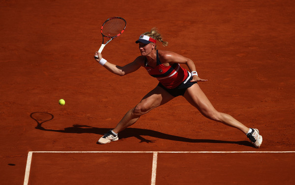 Timea Babos was often forced to engage in long rallies | Photo: Julian Finney/Getty Images Europe