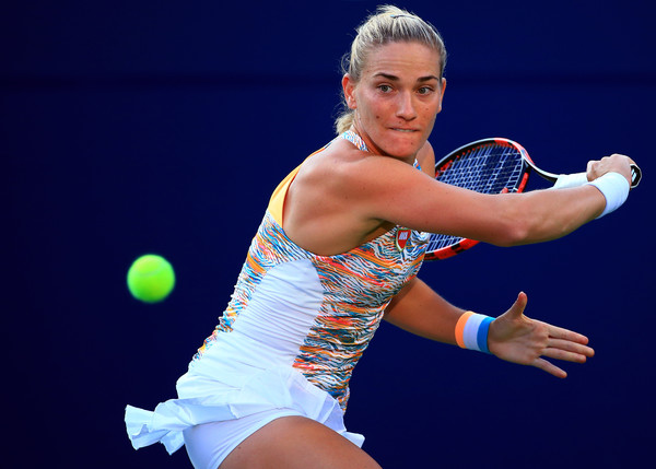 Timea Babos in action at the Rogers Cup | Photo: Vaughn Ridley/Getty Images North America