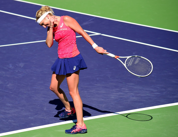 Timea Bacsinszky was not able to follow up her incredible victory over Kiki Bertens due to an unfortunate injury | Photo: Harry How/Getty Images North America