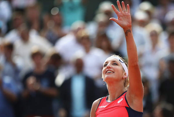 Timea Bacsinszky would be pleased with her performance today | Photo: Julian Finney/Getty Images Europe