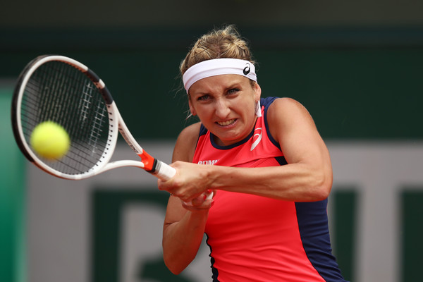 Timea Bacsinszky seals the win | Photo: Julian Finney/Getty Images Europe