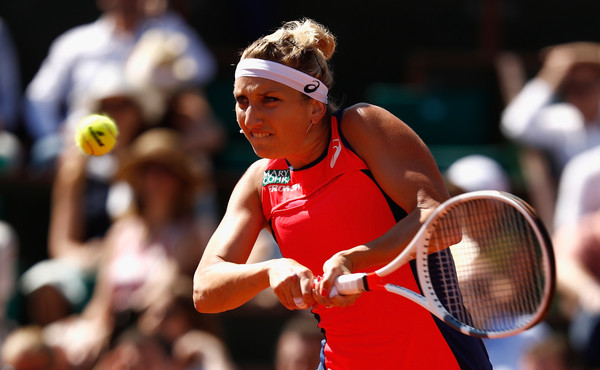 Timea Bacsinszky provided a tough fight throughout the match | Photo: Adam Pretty/Getty Images Europe