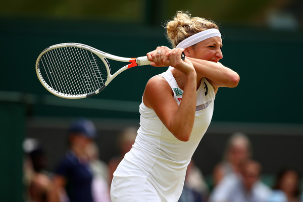 Timea Bacsinszky in action at Wimbledon, her last tournament of the year | Photo: Clive Brunskill/Getty Images Europe