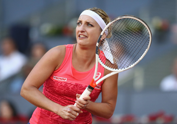 Timea Bacsinszky in action at the Mutua Madrid Open, where she claimed an excellent victory over Garbine Muguruza | Photo: Julian Finney/Getty Images Europe