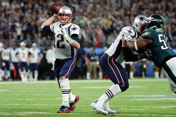 In defeat, Brady set the Super Bowl single-game record for passing yards with 505/Photo: Elsa/Getty Images