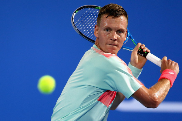 Berdych in action at the Qatar Open (Photo: Francois Neal/Getty Images Asia Pac)