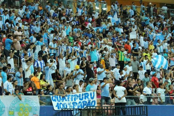 Torcida do Paysandu compareceu em bom número à Arena da Amazônia (Foto: Emanuel Siqueira Mendes/Manaus FC)