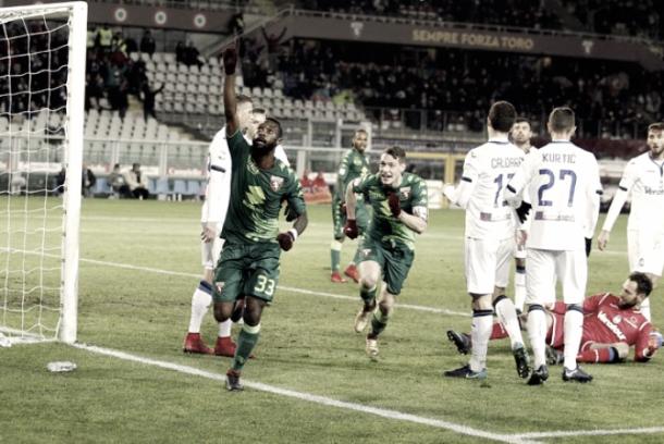 Gol del empate del Torino | Foto: Twitter Torino oficial