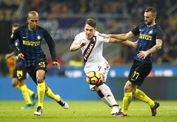 Belotti contro l'Inter, torinofc.it