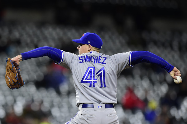 Sanchez will look to build on his strong start to 2018 in his next home start against the Kansas City Royals next week. | Photo: Patrick McDermott/Getty Images
