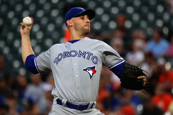 Marco Estrada allowed six runs on 10 hits over five innings, but his experienced offense came to the rescue to earn him his seventh win of the season. | Photo: Rob Carr/Getty Images