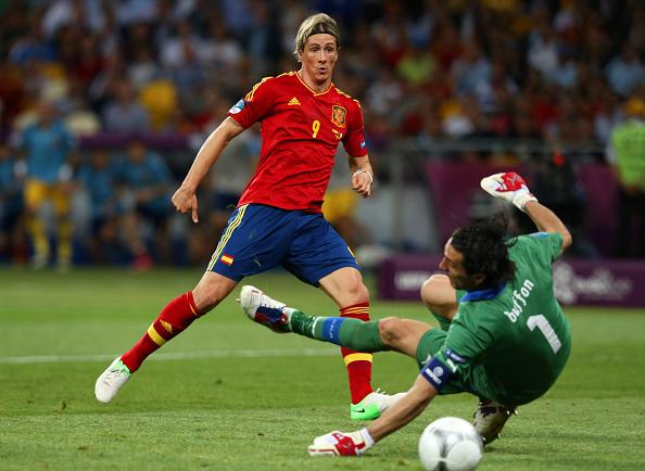 Torres anotó un gol en las dos últimas finales de la Eurocopa. // Foto: Getty Images