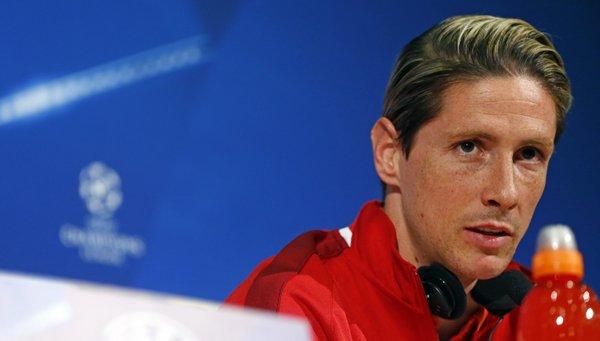 Fernando Torres in conferenza stampa, twitter @Atleti