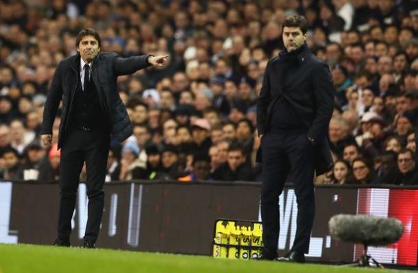 Conte y Pochettino durante un encuentro la temporada pasada. FOTO: ChelseaFC