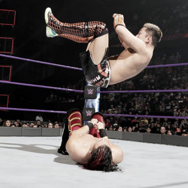 Tozawa was dominant on his debut. Photo-WWE.com