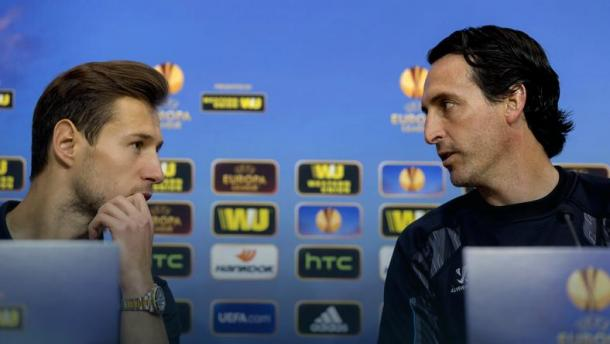 Emery (r) has brought Krychowiak with him from Sevilla. | Photo: PAP