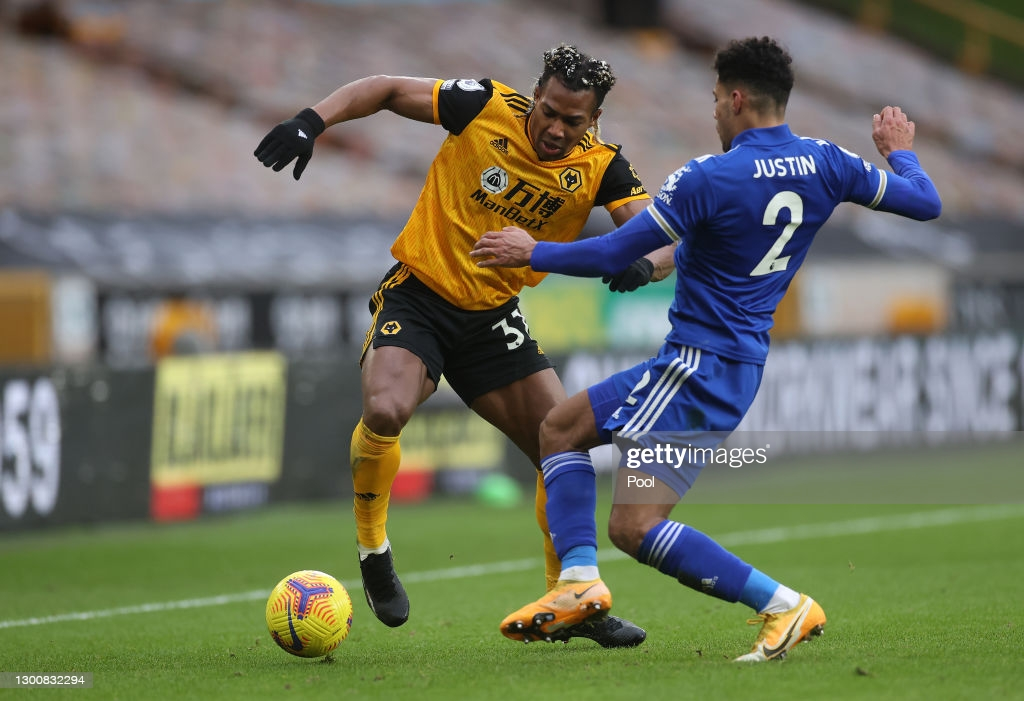 Adama Traore will be one of the main threats against the Leicester defence   Credit: Pool   Getty Images