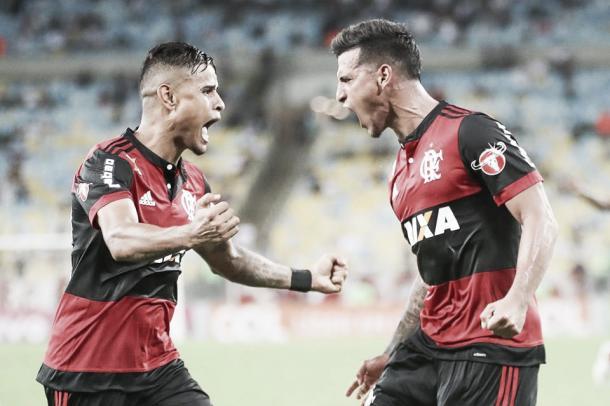 O peruano Miguel Trauco marcou o quarto gol com a camisa do Flamengo (Foto: Gilvan de Souza)
