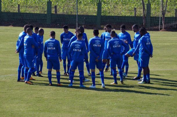 Cruzeiro fez último treino no CT do Figueirense, em Palhoça (Foto: Divulgação/Cruzeiro EC)