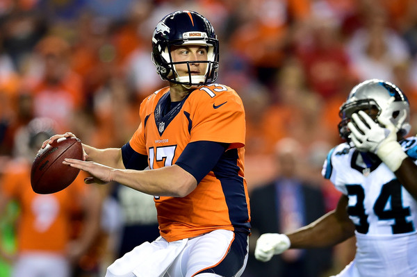 Denver Broncos quarterback will be making his second NFL start versus the Indianapolis Colts on Sunday.  Photo:  Getty Images