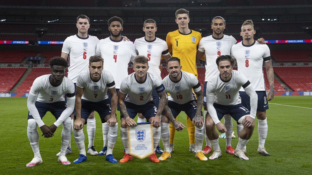 Trippier ejerce como capitán en un partido con la selección inglesa // FOTO: Twitter de Trippier