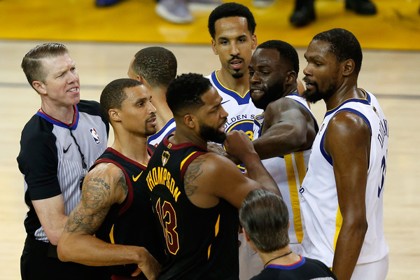 Tempers flared at the end of Game 1 that resulted in Tristan Thompson's ejection/Photo: Ezra Shaw/Getty Images
