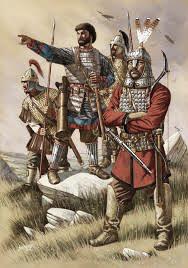 Imagen que representa a tropas bizantinas. Fuente: Wikicomons